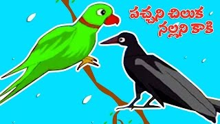 Download Parrot And Crow Story | Short Stories For Kids In Telugu | Pachhani Chiluka Video