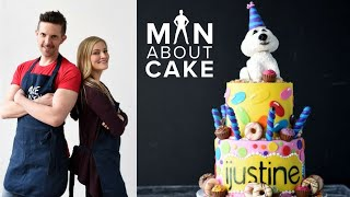 Download iJustine DREAM Birthday Cake Collab with Man About Cake | Sculpted Dog Cake Topper Video