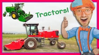 Download Tractor Videos for Children – Explore a Swather with Blippi Video