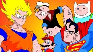 Download GOKU vs EVERYBODY UCF 7.2 - SUPERMAN, FINN & JAKE, MARIO & POPEYE Video