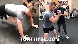 Download CANELO PUSHING HIS STRENGTH & CONDITIONING TO THE LIMIT; TRAINING NON-STOP FOR GOLOVKIN Video