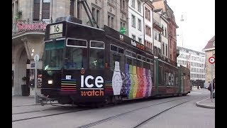 Download 10 different tram types in Basel, Switzerland Video
