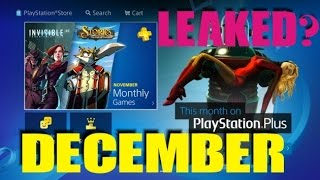 Download PS PLUS DECEMBER 2016 LEAKED Confirmed INSTANT GAME COLLECTION Video