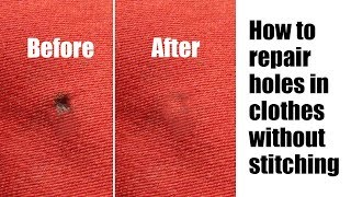 Download How to repair holes in clothes without stitching Video