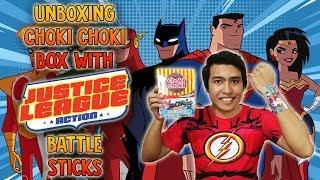Download Unboxing Choki Choki Box with Justice League Action Battle Sticks Video