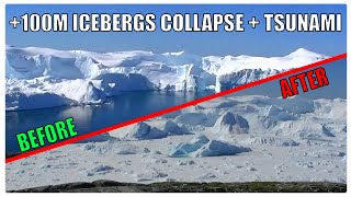 Download Incredible GLACIER COLLAPSE & TSUNAMI WAVE Caught on Camera! | Greenland's Melting Ice Video