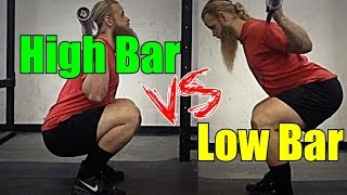 Download High Bar Squat vs. Low Bar Squat Video