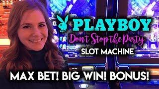 Download Playboy Don't Stop the Party Slot Machine BIG WIN! Max Bet BONUS! Video