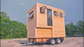 Download Tiny House With 4 Levels and Greenhouse Roof Video