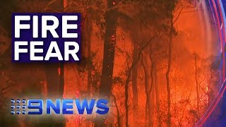 Download NSW Bushfires: Fire crews on edge with worsening conditions | Nine News Australia Video