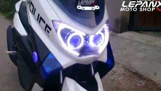 Download Yamaha NMAX 150 custom with projector AES HID Video