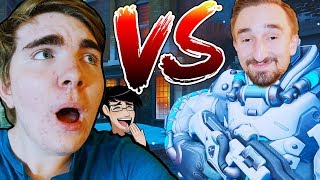 Download OVERWATCH JEROMEASF VS BEN HILARIOUS 1V1 SHOWDOWN! Video