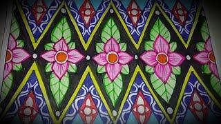 Download Menggambar batik motif bunga #mudah lho Video