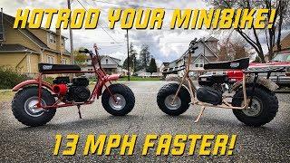 Download HOTROD Your Coleman Mini Bike! 13 MPH Speed Gain! Video
