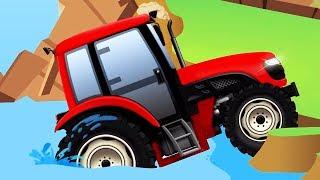 Download TRACTOR y COCHES. Tractores infantiles. OFFROAD. Dibujos animados de coches para niños Video