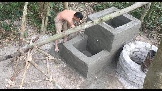 Download Primitive technology with survival skills build a water filter tank part 2 Video