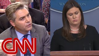 Download Acosta to Sanders: Say the press is not the enemy Video