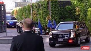 Download WATCH: President Donald Trump Arrives at the European Union Headquarters 2017 Trump EU Speech Video