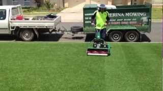 Download Cylinder lawn mowing Wagga Video