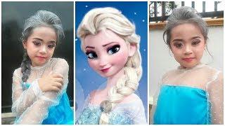 Download makeup anak frozen elsa, dan bajunya bikinan sendiri lo Video