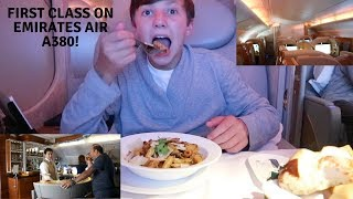 Download EMIRATES AIR UPGRADED ME TO FIRST CLASS ON AN AIRBUS 380!!! Video