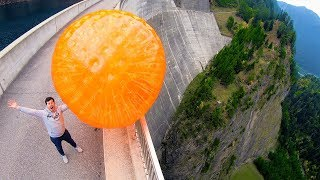 Download ZORB BALL MAGNUS EFFECT from 165m Dam! Video