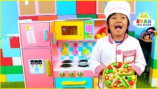Download Ryan Pretend Play Cooking with Kitchen Playset and Cash Register Video