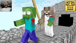 Download Monster School : GRANNY HORROR GAME VS TEMPLE RUN - Minecraft Animation Video