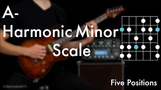Download A Harmonic Minor Scale - Five Positions Video