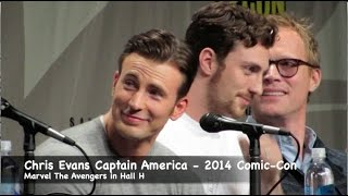 Download Chris Evans Captain America compares muscles to Thor at Comic-Con 2014 Marvel Panel Video