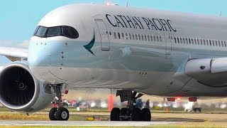 Download SENSATIONAL Cathay Pacific Airbus A350-900 CLOSE-UP Takeoff ● Melbourne Airport Plane Spotting Video