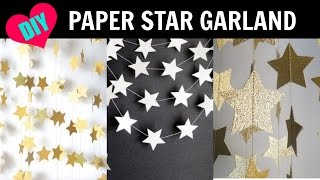 Download DIY Star Paper Garland Room Decor Video