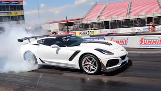 Download HENNESSY 2019 CHEVROLET CORVETTE ZR1 HITS 9s AT THE DRAG STRIP! Video