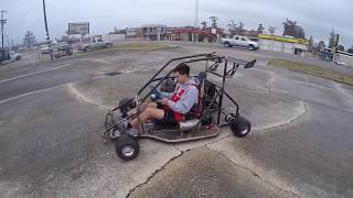 Download First ride in the 1000cc race kart build Video