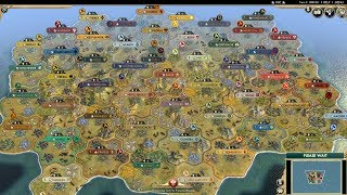 Download Civ 5 AI Only Timelapse: Kings of Ruins, 50 Custom Civs on the Small Map Video