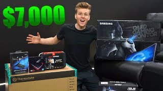 Download THE $7000 PC UNBOXING + NEW OFFICE SETUP TOUR! Video