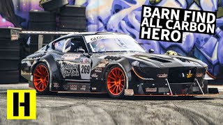 Download Carbon Fiber Bodied, V8 Powered 240z: Can a Road Racer Shred our Yard?? Video