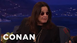 Download Ozzy Osbourne Accidentally Texted Robert Plant Looking For His Cat - CONAN on TBS Video