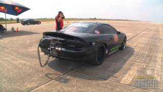 Download 244mph Camaro sliding sideways - The Texas Mile - May 2011 Video