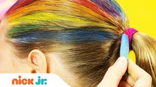 Download How to Create A Rainbow Helmet 🌈 Style Files Hair Tutorial | Sunny Day | Nick Jr. Video
