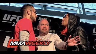 Download Dana White Gets Scared at UFC 216 Face Offs Video