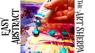 Download Abstract painting Simple and Colorful Acrylics Palette knife LIVE STREAMING Video