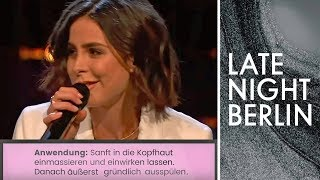 Download Lena singt das Shampoo-Etikett | Late Night Berlin | ProSieben Video