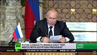 Download Putin in whirlwind Mid-East trip – Syria, Egypt, Turkey in one day Video