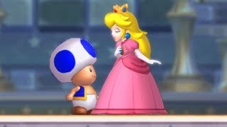 Download Play As Blue Toad Secret Character in New Super Mario Bros U Deluxe Final Boss & Ending (No Damage) Video
