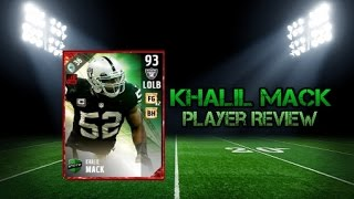 Download Madden NFL 17 Ultimate Team 93 Overall Khalil Mack Player Review Video