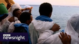 Download Escape to Europe: The migrants' story - BBC Newsnight Video