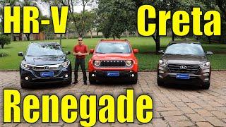 Download Comparativo: Honda HR-V x Jeep Renegade x Hyundai Creta Video