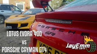 Download Lotus Evora 400 vs Porsche Cayman GT4 - Pork and Cheese? Video