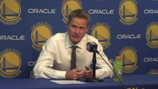 Download Steve Kerr mimes hilarious locker room scene after Klay's 60 points Video